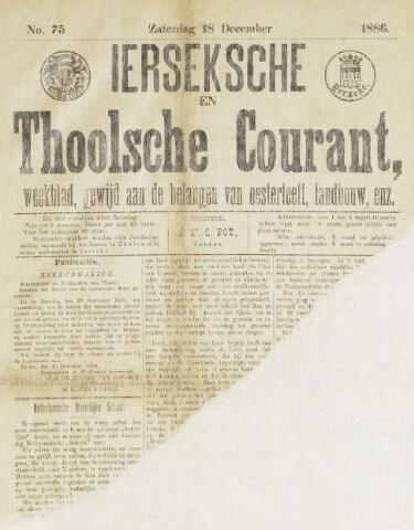 Ierseksche en Thoolsche Courant 1886-12-18