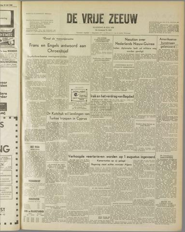 de Vrije Zeeuw 1958-07-28