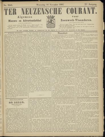 Ter Neuzensche Courant. Algemeen Nieuws- en Advertentieblad voor Zeeuwsch-Vlaanderen / Neuzensche Courant ... (idem) / (Algemeen) nieuws en advertentieblad voor Zeeuwsch-Vlaanderen 1887-11-16