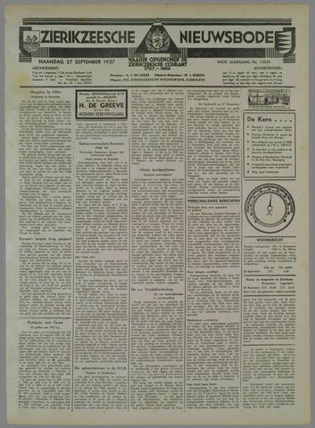 Zierikzeesche Nieuwsbode 1937-09-27