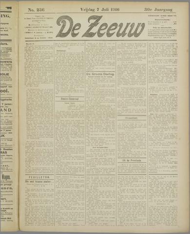 De Zeeuw. Christelijk-historisch nieuwsblad voor Zeeland 1916-07-07