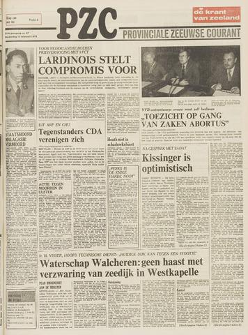 Provinciale Zeeuwse Courant 1975-02-13
