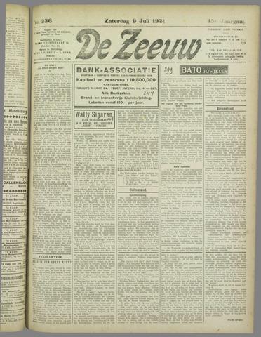 De Zeeuw. Christelijk-historisch nieuwsblad voor Zeeland 1921-07-09