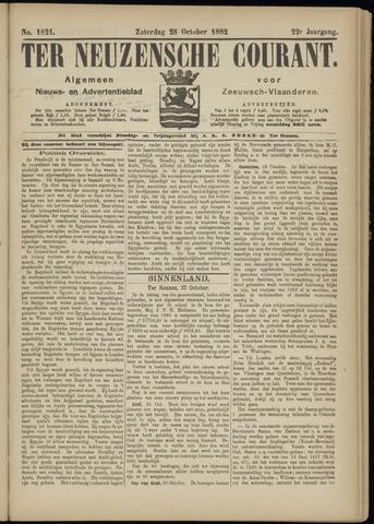 Ter Neuzensche Courant. Algemeen Nieuws- en Advertentieblad voor Zeeuwsch-Vlaanderen / Neuzensche Courant ... (idem) / (Algemeen) nieuws en advertentieblad voor Zeeuwsch-Vlaanderen 1882-10-28