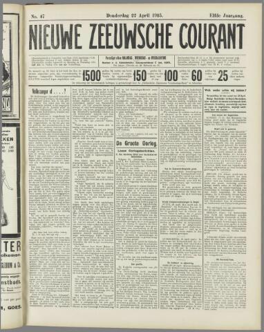 Nieuwe Zeeuwsche Courant 1915-04-22