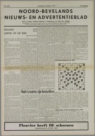 Noord-Bevelands Nieuws- en advertentieblad 1971-02-18
