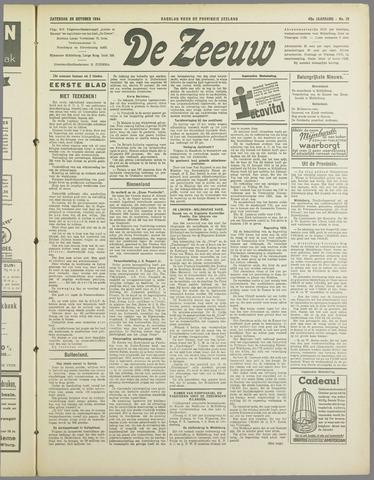 De Zeeuw. Christelijk-historisch nieuwsblad voor Zeeland 1934-10-20