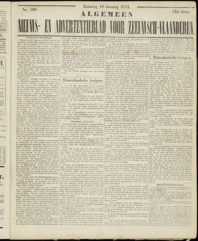 Ter Neuzensche Courant. Algemeen Nieuws- en Advertentieblad voor Zeeuwsch-Vlaanderen / Neuzensche Courant ... (idem) / (Algemeen) nieuws en advertentieblad voor Zeeuwsch-Vlaanderen 1873-01-18
