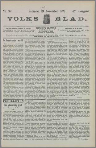 Volksblad 1922-11-18