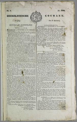 Zierikzeesche Courant 1830