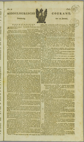 Middelburgsche Courant 1825-01-20