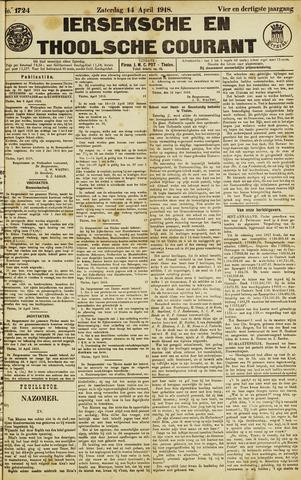 Ierseksche en Thoolsche Courant 1918-04-13