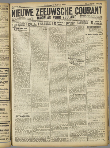 Nieuwe Zeeuwsche Courant 1923-02-22