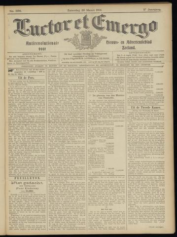 Luctor et Emergo. Antirevolutionair nieuws- en advertentieblad voor Zeeland / Zeeuwsch-Vlaanderen. Orgaan ter verspreiding van de christelijke beginselen in Zeeuwsch-Vlaanderen 1914-03-28
