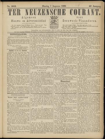 Ter Neuzensche Courant. Algemeen Nieuws- en Advertentieblad voor Zeeuwsch-Vlaanderen / Neuzensche Courant ... (idem) / (Algemeen) nieuws en advertentieblad voor Zeeuwsch-Vlaanderen 1900-08-07
