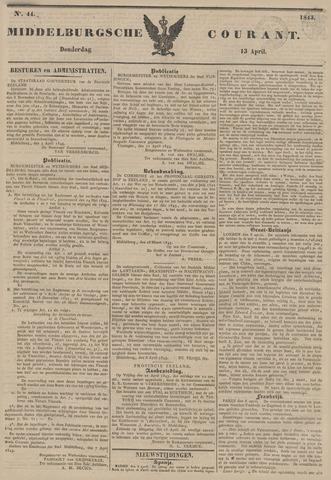 Middelburgsche Courant 1843-04-13