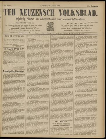 Ter Neuzensch Volksblad. Vrijzinnig nieuws- en advertentieblad voor Zeeuwsch- Vlaanderen / Zeeuwsch Nieuwsblad. Nieuws- en advertentieblad voor Zeeland 1915-04-28