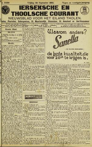 Ierseksche en Thoolsche Courant 1931-09-25