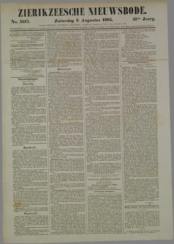 Zierikzeesche Nieuwsbode 1885-08-08