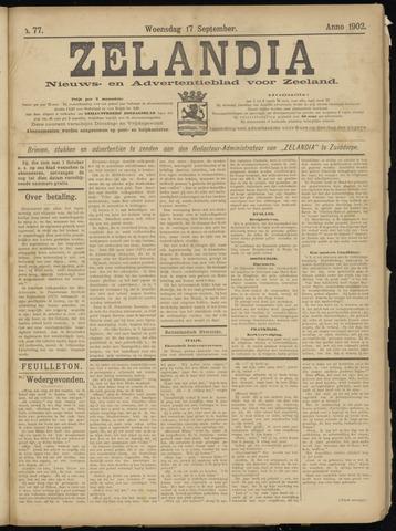 Zelandia. Nieuws-en advertentieblad voor Zeeland | edities: Het Land van Hulst en De Vier Ambachten 1902-09-17