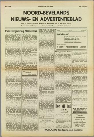 Noord-Bevelands Nieuws- en advertentieblad 1955-06-18