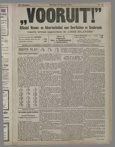 """""""Vooruit!""""Officieel Nieuws- en Advertentieblad voor Overflakkee en Goedereede 1917-01-27"""