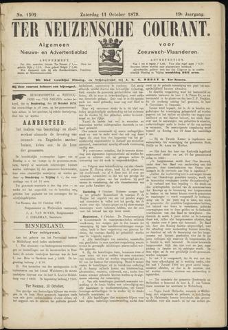 Ter Neuzensche Courant. Algemeen Nieuws- en Advertentieblad voor Zeeuwsch-Vlaanderen / Neuzensche Courant ... (idem) / (Algemeen) nieuws en advertentieblad voor Zeeuwsch-Vlaanderen 1879-10-11