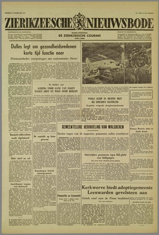 Zierikzeesche Nieuwsbode 1959-02-10