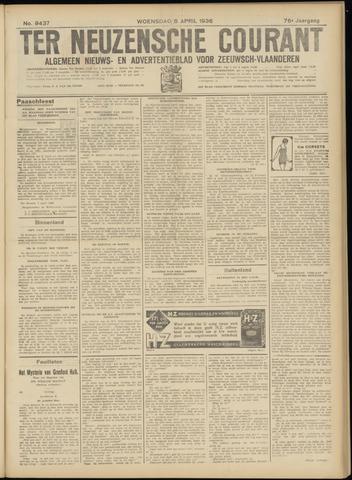Ter Neuzensche Courant. Algemeen Nieuws- en Advertentieblad voor Zeeuwsch-Vlaanderen / Neuzensche Courant ... (idem) / (Algemeen) nieuws en advertentieblad voor Zeeuwsch-Vlaanderen 1936-04-08