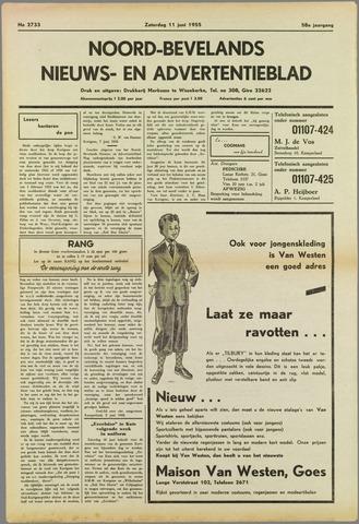 Noord-Bevelands Nieuws- en advertentieblad 1955-06-11