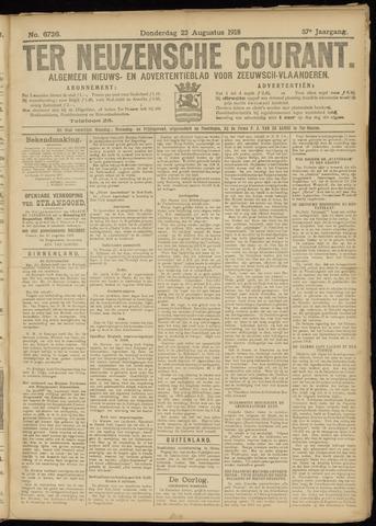 Ter Neuzensche Courant. Algemeen Nieuws- en Advertentieblad voor Zeeuwsch-Vlaanderen / Neuzensche Courant ... (idem) / (Algemeen) nieuws en advertentieblad voor Zeeuwsch-Vlaanderen 1918-08-22