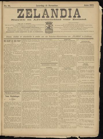 Zelandia. Nieuws-en advertentieblad voor Zeeland | edities: Het Land van Hulst en De Vier Ambachten 1902-11-15