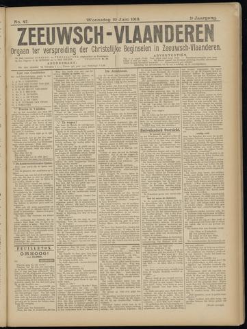 Luctor et Emergo. Antirevolutionair nieuws- en advertentieblad voor Zeeland / Zeeuwsch-Vlaanderen. Orgaan ter verspreiding van de christelijke beginselen in Zeeuwsch-Vlaanderen 1918-06-19