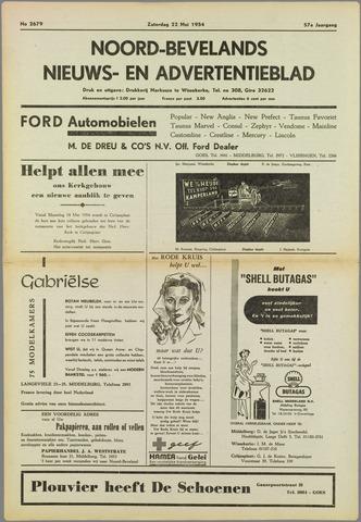 Noord-Bevelands Nieuws- en advertentieblad 1954-05-22