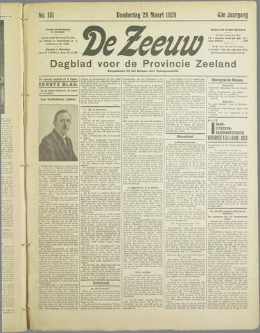 De Zeeuw. Christelijk-historisch nieuwsblad voor Zeeland 1929-03-28