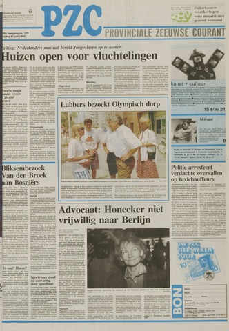 Provinciale Zeeuwse Courant 1992-07-31