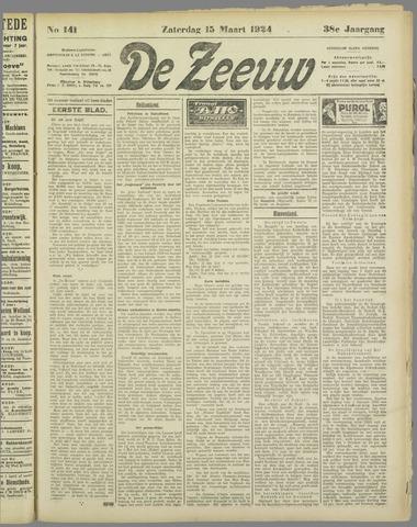 De Zeeuw. Christelijk-historisch nieuwsblad voor Zeeland 1924-03-15
