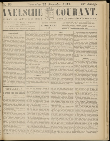 Axelsche Courant 1911-11-22