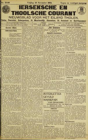 Ierseksche en Thoolsche Courant 1931-11-13