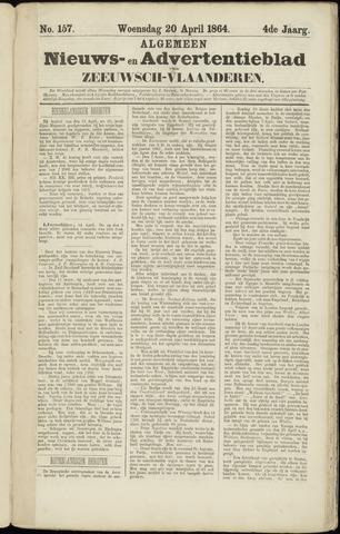 Ter Neuzensche Courant. Algemeen Nieuws- en Advertentieblad voor Zeeuwsch-Vlaanderen / Neuzensche Courant ... (idem) / (Algemeen) nieuws en advertentieblad voor Zeeuwsch-Vlaanderen 1864-04-20