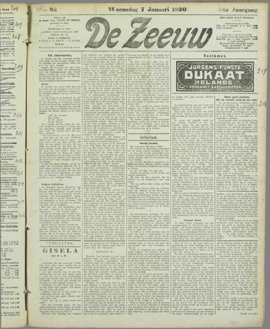 De Zeeuw. Christelijk-historisch nieuwsblad voor Zeeland 1920-01-07