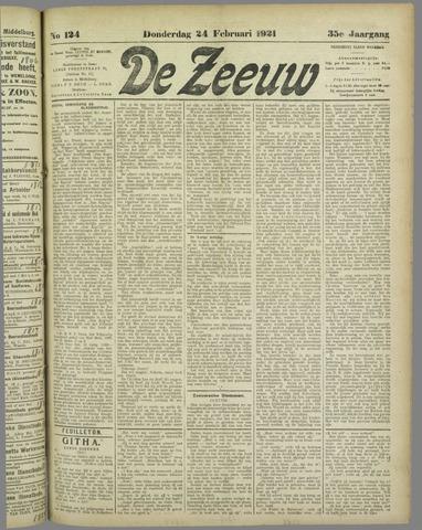 De Zeeuw. Christelijk-historisch nieuwsblad voor Zeeland 1921-02-24