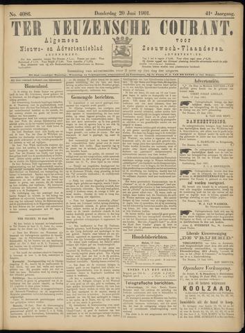 Ter Neuzensche Courant. Algemeen Nieuws- en Advertentieblad voor Zeeuwsch-Vlaanderen / Neuzensche Courant ... (idem) / (Algemeen) nieuws en advertentieblad voor Zeeuwsch-Vlaanderen 1901-06-20