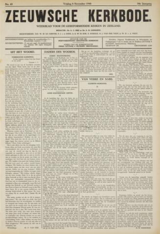 Zeeuwsche kerkbode, weekblad gewijd aan de belangen der gereformeerde kerken/ Zeeuwsch kerkblad 1940-11-08