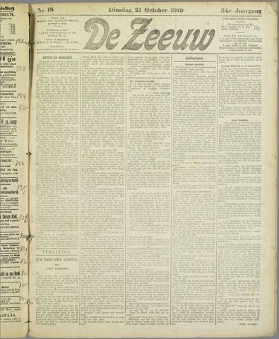 De Zeeuw. Christelijk-historisch nieuwsblad voor Zeeland 1919-10-21
