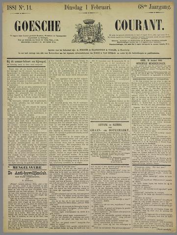 Goessche Courant 1881-02-01