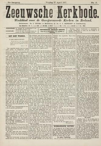 Zeeuwsche kerkbode, weekblad gewijd aan de belangen der gereformeerde kerken/ Zeeuwsch kerkblad 1917-04-27