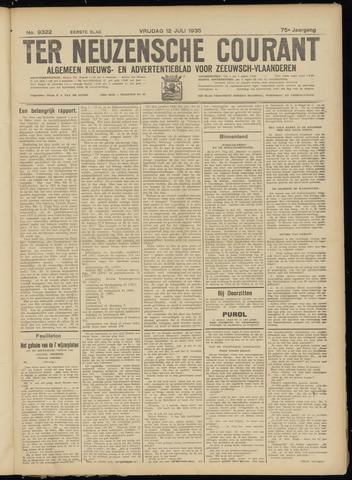 Ter Neuzensche Courant. Algemeen Nieuws- en Advertentieblad voor Zeeuwsch-Vlaanderen / Neuzensche Courant ... (idem) / (Algemeen) nieuws en advertentieblad voor Zeeuwsch-Vlaanderen 1935-07-12