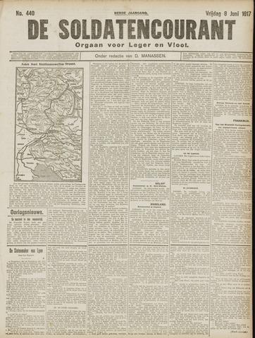 De Soldatencourant. Orgaan voor Leger en Vloot 1917-06-08