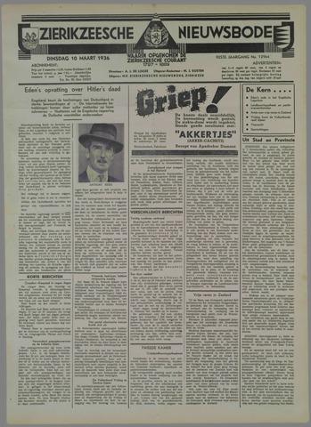 Zierikzeesche Nieuwsbode 1936-03-10